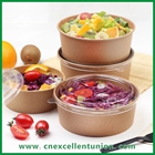 Kraft Paper Salad Bowl with lid